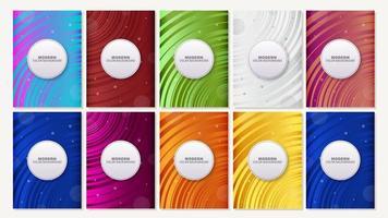 capas de ondas mínimas coloridas