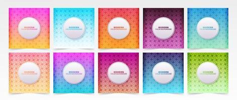 conjunto de capas de gradiente colorido de padrão de diamante