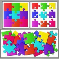quebra-cabeça colorido vetor