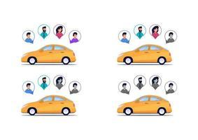 projeto de completude de passageiros de carro vetor