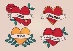 Tatuagem de mãe vetora vetor