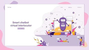 interlocutor virtual de chatbot inteligente