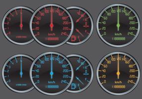 Tacômetros digitais vetor