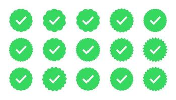 conjunto de emblemas de garantia e qualidade vetor