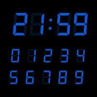 conjunto de números de relógio digital vetor