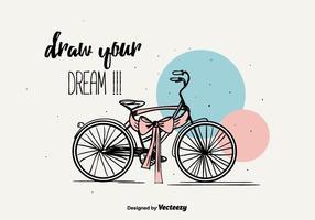 Desenhe o fundo do seu sonho vetor