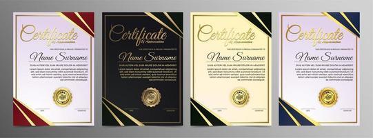 certificado de reconhecimento criativo vetor