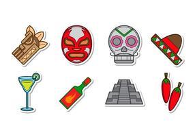 Vetor mexicano de ícones grátis