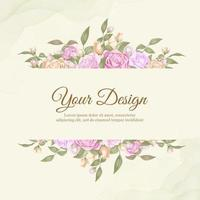 design de modelo de casamento rosa linda vetor