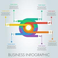 Infográfico de negócios do círculo colorido.