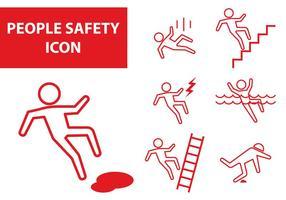 Ícone de segurança das pessoas vetor