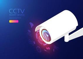 dispositivo isométrico do cctv vetor