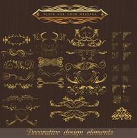 conjunto de elementos decorativos de canto de padrão clássico vetor