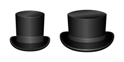 chapéu elegante clássico vintage, isolado no fundo branco vetor