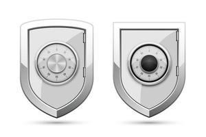 escudo de proteção isolado no fundo branco vetor