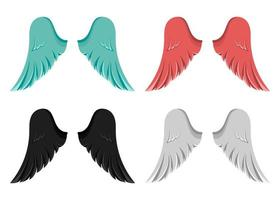 asas isoladas no fundo branco vetor