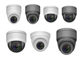 câmera de vigilância isolada no fundo branco vetor