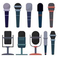 microfone isolado no fundo branco vetor