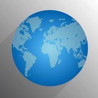 globo do mundo digital de pontos vetor