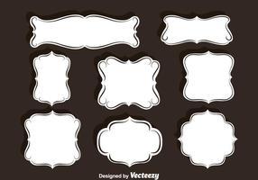 Conjunto de vetores de quadros de ornamento