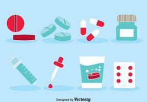Ícones de Medicina Set vetor