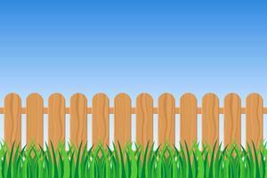 grama e cerca verde vetor