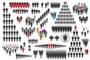 conjunto de ícones de pessoas vetor