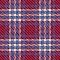 padrão xadrez vermelho escuro, branco e azul vetor