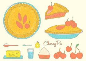 torta de cereja caseira vetor