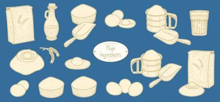 principais ingredientes para a receita de macarrão