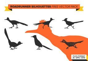 Roadrunner silhouettes free vector pack