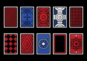 Vetores do cartão de jogo