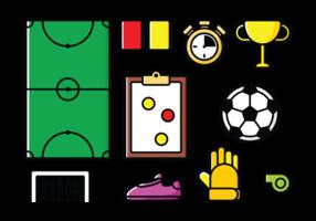 Ícones do Futsal do vetor