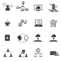 ícones de grande volume de dados vetor