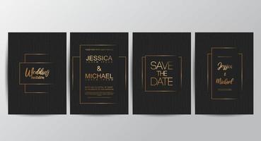 conjunto de salvar os cartões de data