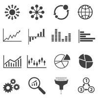 conjunto de ícones de grande volume de dados vetor