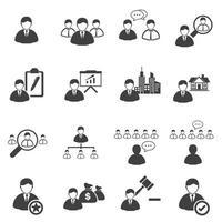 conjunto de ícones de liderança de negócios vetor