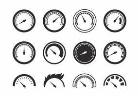 Vetor de ícones de tacômetro grátis