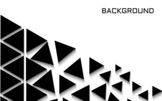 design moderno com triângulos pretos no branco