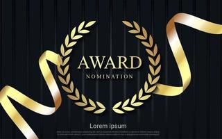 design de nomeação de prêmio com fita