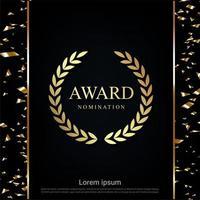 design de indicação de prêmio sparkle com confete