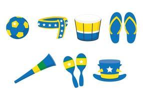 Conjunto de fãs vuvuzela vetor