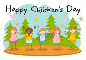 Free Happy Children's Day Vector