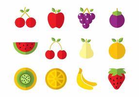 Vetor de ícones de frutas grátis