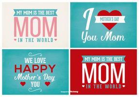 Conjunto de etiquetas do dia das mães vetor