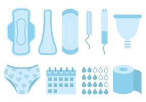 Vetor de produtos de higiene feminina grátis