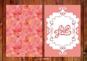 Watercoolr cartões de casamento desenhados à mão
