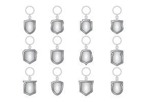 Vetor de chaveiro de prata