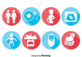 Vetor de ícones grávidos