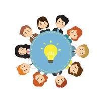 projeto de conceito de colaboração vetor